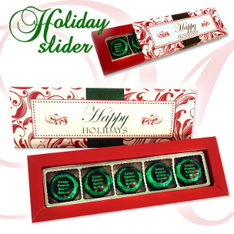 Holiday Slider - Crispy Peanut Butter Buttons