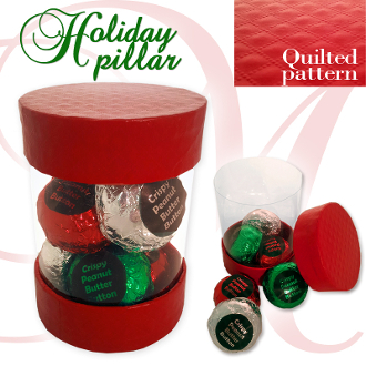 Holiday Pillar - Crispy Peanut Butter Buttons